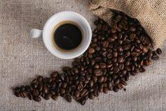 Feijão roasted, textura agradável de Coffe Imagem de Stock