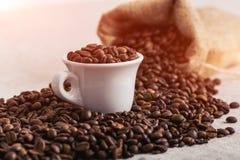 Feijão roasted, textura agradável de Coffe Fotos de Stock