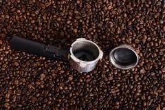 Feijão roasted, textura agradável de Coffe Foto de Stock Royalty Free
