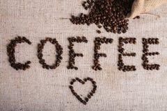 Feijão roasted, textura agradável de Coffe Fotos de Stock Royalty Free