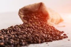 Feijão roasted, textura agradável de Coffe Imagem de Stock Royalty Free