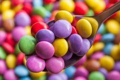 Feijões coloridos dos doces fotos de stock royalty free