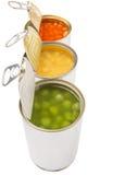 Feijões cozidos, ervilhas verdes, milho doce VI Fotografia de Stock