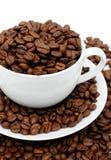 Feijões da chávena de café Foto de Stock