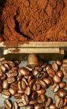 Feijões de café - 2vert Imagens de Stock Royalty Free