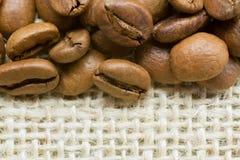 Feijões de café com espaço da cópia Imagens de Stock Royalty Free