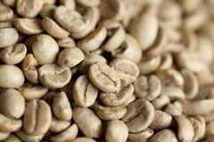 Feijões de café crus Imagem de Stock