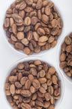 Feijões de café crus em uns copos de café árabe Imagens de Stock