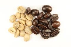 Feijões de café da goma-arábica Fotografia de Stock