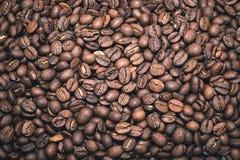 Feijões de café da tela cheia Foto de Stock Royalty Free