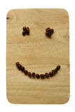 Feijões de café do sorriso Imagem de Stock