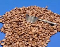 Feijões de café e colher IV imagem de stock