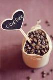 Feijões de café em um saco Imagem de Stock Royalty Free