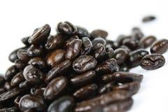 Feijões de café escuros do assado Imagem de Stock