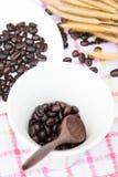 Feijões de café frescos Fotografia de Stock Royalty Free