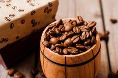 Feijões de café Café de Grinded Imagem de Stock Royalty Free
