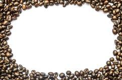 Feijões de café isolados Fotografia de Stock