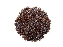 Feijões de café isolados Imagem de Stock Royalty Free