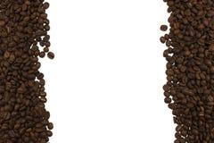 Feijões de café na beira da imagem Fotografia de Stock