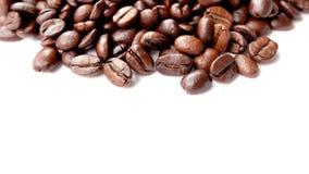 Feijões de café panorâmicos macro fotografia de stock