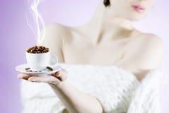 Feijões de café perfumados imagem de stock royalty free