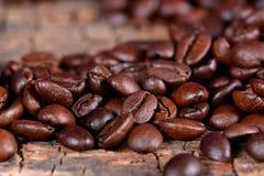 Feijões de café preto Foto de Stock