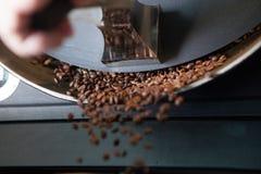 Feijões de café recentemente roasted - paisagem Fotos de Stock Royalty Free