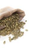Feijões de café verdes Imagens de Stock Royalty Free