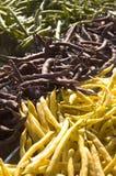 Feijões de corda do mercado dos fazendeiros imagens de stock royalty free