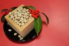 Feijões de soja do festival japonês #3 do setsubun Foto de Stock