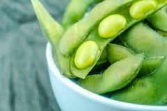 Feijões de soja verdes japoneses Fotografia de Stock Royalty Free