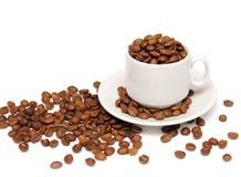 Feijões do copo e de café Imagens de Stock Royalty Free