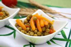 Feijões e cenouras Imagem de Stock
