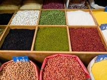 Feijões e cereal Fotografia de Stock