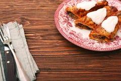 Feijões e Enchiladas dos vegetais imagens de stock