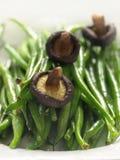 Feijões finos extra do Kenyan com cogumelos Imagens de Stock