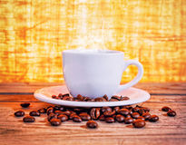 Feijões quentes do café Fotografia de Stock Royalty Free