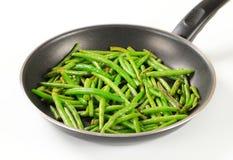 feijões verdes Agitar-fritados imagem de stock