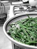 Feijões verdes & lado do queijo Imagens de Stock