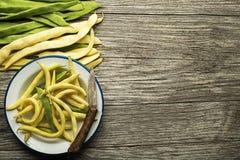 Feijões verdes e amarelos Imagem de Stock