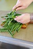Feijões verdes frescos Imagem de Stock