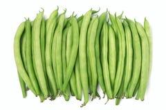 Feijões verdes no fundo branco Imagem de Stock