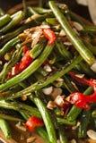 Feijões verdes sauteed saudáveis Imagem de Stock