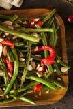 Feijões verdes sauteed saudáveis Fotos de Stock Royalty Free
