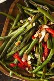 Feijões verdes sauteed saudáveis Imagem de Stock Royalty Free