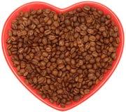 Feijões de café na placa Fotografia de Stock Royalty Free