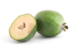 Feijoa. Isolated on white background Royalty Free Stock Photography