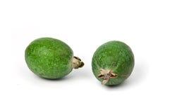 Feijoa fruits isolated on white background.  Royalty Free Stock Image