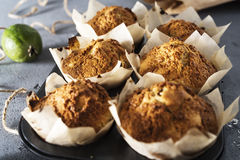 Feijoa muffin Arkivfoton
