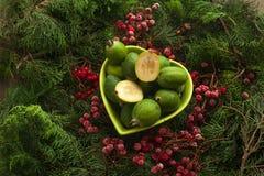 Feijoa source of iodine and vitamins. Feijoa source of iodine and vitamins for a healthy diet. Bowl full of feijoa, exotic fruit stock photography
